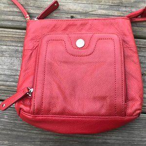 Stone & CO. Women Cross Body Bag Red Genuine Leath